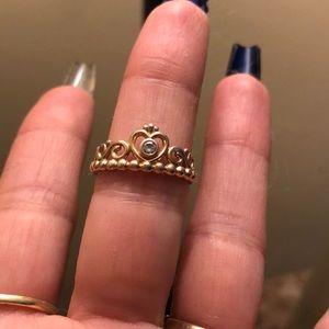 Pandora My Princess Crown Ring ; Rose Gold